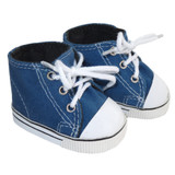 Fits: 18 inch American Girl or Boy dolls  Includes: shoes  Blue high-top canvas sneakers with laces.