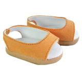 """Fits: 18"""" American Girl dolls  Includes: shoes  Orange canvas slip-on wedges."""