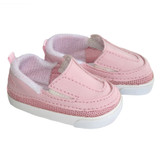 """Fits: 18"""" American Girl or Boy doll  Includes: shoes  Pink sporty slip-on shoes."""
