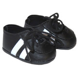 Fits 18 inch American Girl or Boy dolls  Includes: shoes  Black soccer shoes with white stripes.