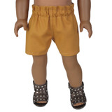 Fits: American Girl doll  Includes: shorts  Simple, yet sensational, these paperbag shorts are sure to be a favorite.  100% cotton.   Color: butternut