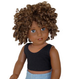 American Girl Doll Clothes.  Black crop tank top for 18 inch dolls.