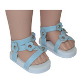 14 inch WellieWishers doll sandals.