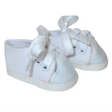 """WSH03.  White Sneakers for 14"""" Dolls."""