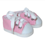 """WSH41.  Light Pink Sneakers for 14"""" Dolls."""