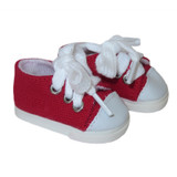"""WSH50.  Red Sneakers for 14"""" Dolls."""
