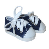 """WSH81.  Navy Sneakers for 14"""" Dolls."""