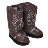 """WSH19.  Brown Cowboy Boots for 14"""" Dolls."""