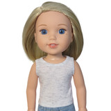 """WT20.  Heather Gray Tank Top for 14"""" Dolls."""