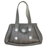Fits 18 inch American Girl doll Includes: purse Pewter purse with faux studs and Velcro dot closure.