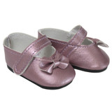 """Y99.  Lavender side-bow Mary Janes for 18"""" dolls."""