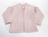 """Fits 18"""" dolls like American Girl doll  Includes: cardigan only  Gray cable knit open-front cardigan."""