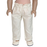 """Fits: 18"""" inch dolls   Includes: pants  These pants are a year-round favorite.  Elastic paper bag waist band.  Pair with a crop top or fitted tee for a casual or dressy look."""