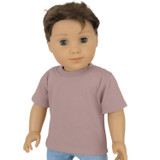 """Fits 18"""" dolls  Includes: tee  Muddy pink knit tee with Velcro closure in back."""