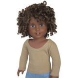 """Fits 18"""" dolls like American Girl, Our Generation, and My Life As  Includes: top  Tan cotton long-sleeve top with scoop neck and Velcro closure in back."""