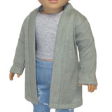 """Fits 18"""" dolls like American Girl doll  Includes: cardigan only  Muddy aqua knit open-front cardigan."""