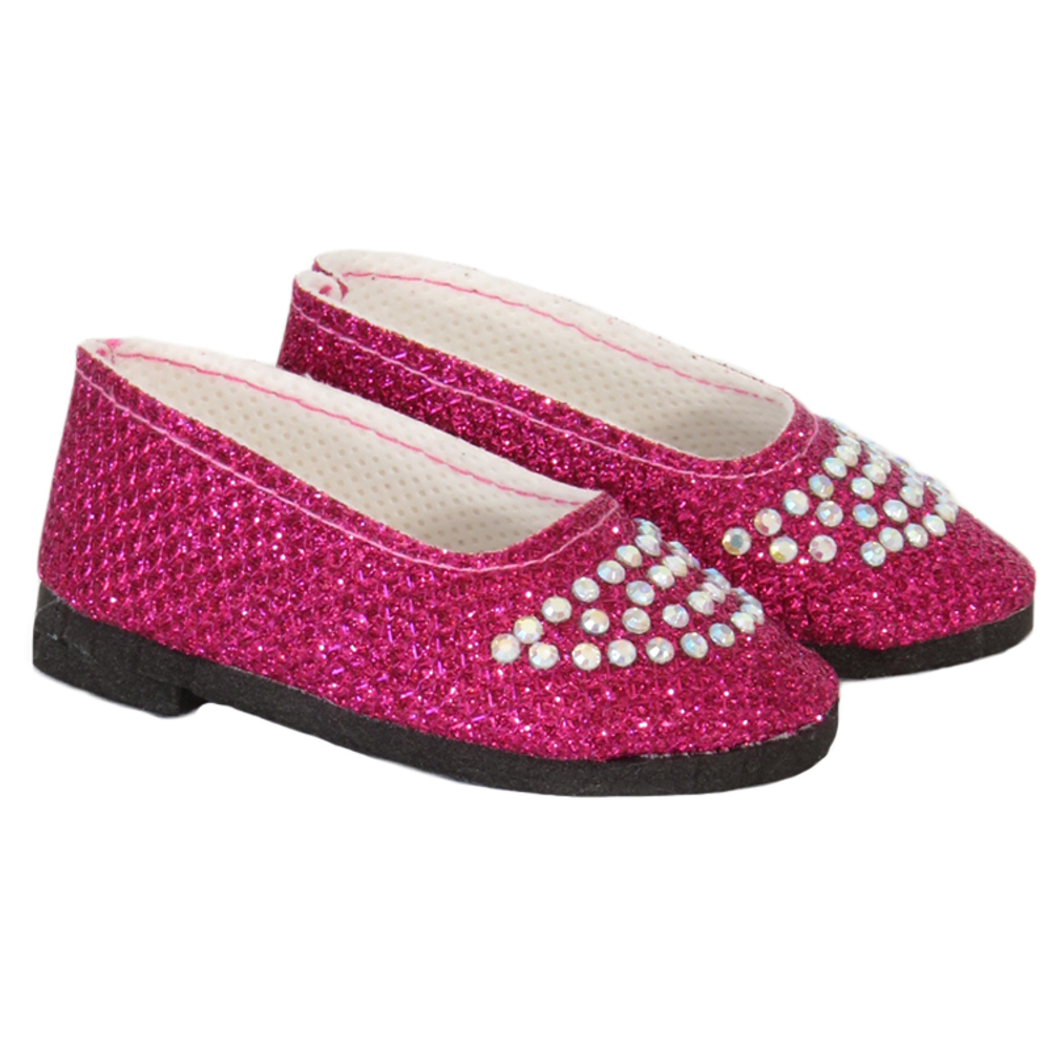 Pink Glitter Slip On Shoes 18 in Doll Clothes Fits American Girl