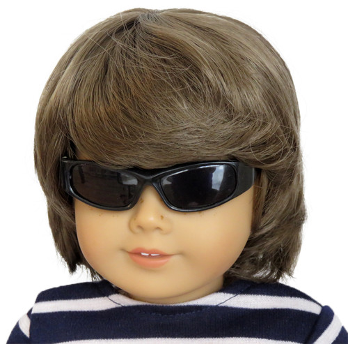 American Girl boy doll wearing cool black sunglasses.