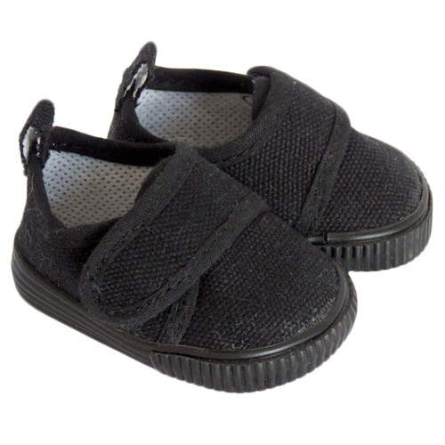 18 inch doll shoes - Black Canvas Casual Shoes