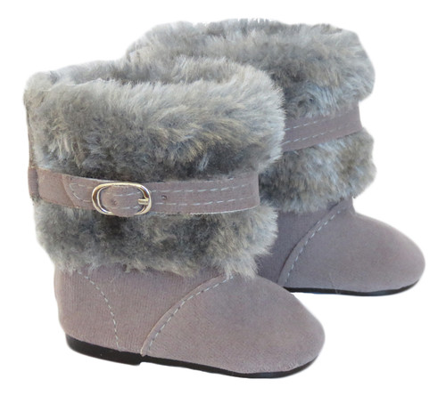 Grey Boots with Buckles for 18 inch dolls