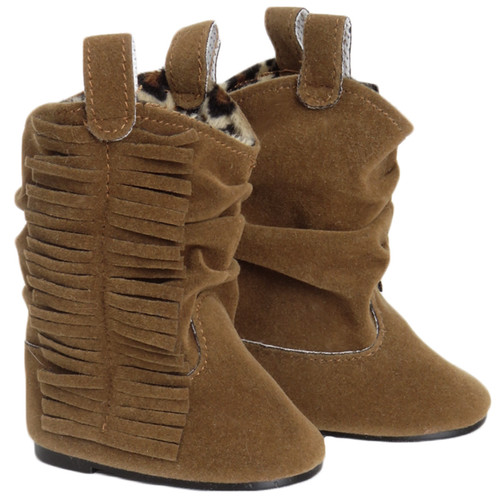 Suede Fringe Slouch Cowboy Boot