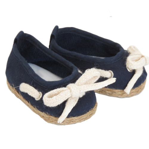Navy Jute-Trimmed Shoes