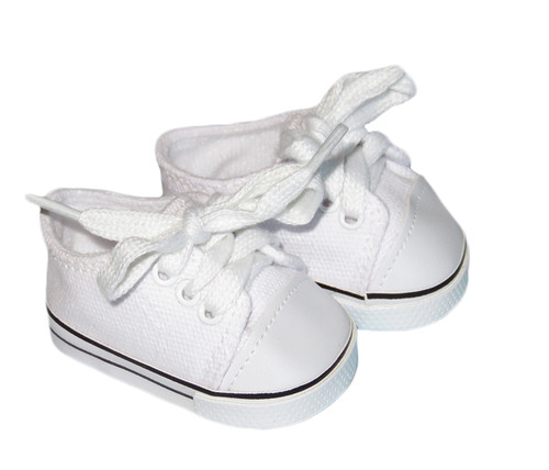 White Low-Rise Canvas Sneakers