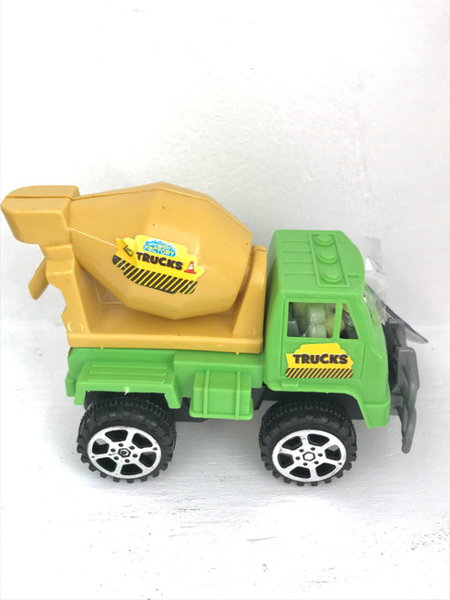 Green truck with candy