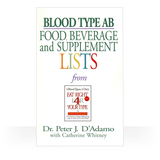 These Eat Right 4 Your Type Portable and Personal Blood Type Guides are pocket-sized and user-friendly.  They serve as a handy reference tool while shopping, cooking, and eating out.Each book contains the food, beverage, and supplement list for each blood type plus handy tips and ideas for incorporating The Blood Type Diet into your daily life.