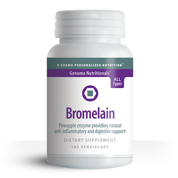 Bromelain is a natural enzyme found in the pineapple plant, known widely as a digestive enzyme. Bromelain is an effective aid in maintaining tissue health.