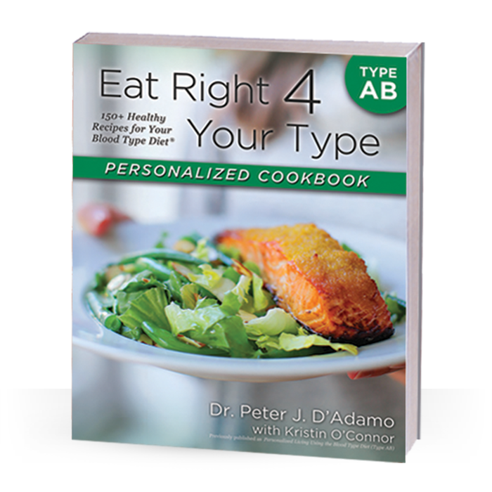 From Dr. Peter J. D'Adamo, the author of the New York Times bestseller Eat Right for Your Type, and Chef Kristin O'Connor, comes theEat Right for Your Type Personalized Cookbook Type AB, the first cookbook designed to meet your unique nutritional needs by following the principles of the Blood Type Diet.