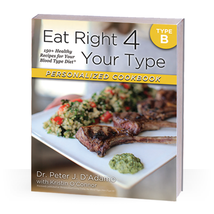 From Dr. Peter J. D'Adamo, the author of the New York Times bestseller Eat Right for Your Type, and Chef Kristin O'Connor, comes theEat Right for Your Type Personalized Cookbook Type B, the first cookbook designed to meet your unique nutritional needs by following the principles of the Blood Type Diet