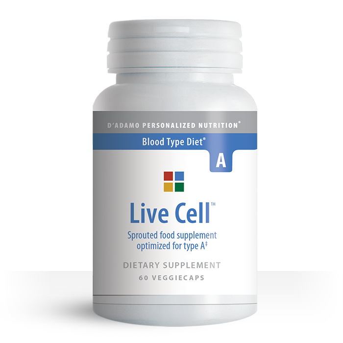 Live Cell A Dietary Supplement 90 Capsules