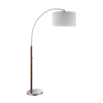 Archy Arc Floor Lamp with Wood Accents