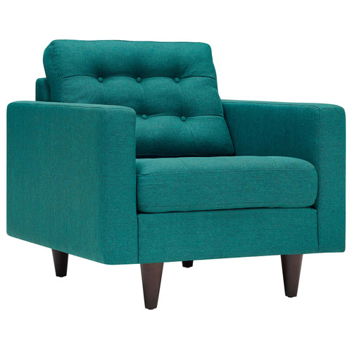 Empress Upholstered Fabric Armchair Teal EEI-1013-TEA