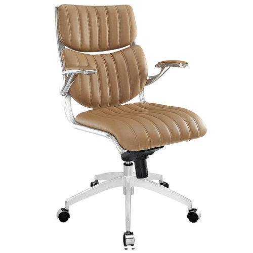Escape Mid Back Office Chair Tan EEI-1028-TAN