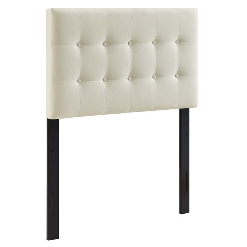 Emily Twin Upholstered Fabric Headboard Ivory MOD-5176-IVO
