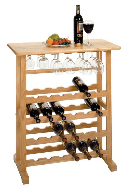 24-Bottle Wine Rack Natural