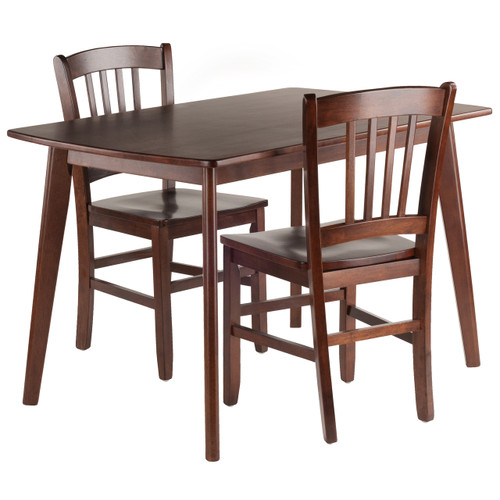 Shaye 3-PC Set Dining Table w/ Slat Back Chairs