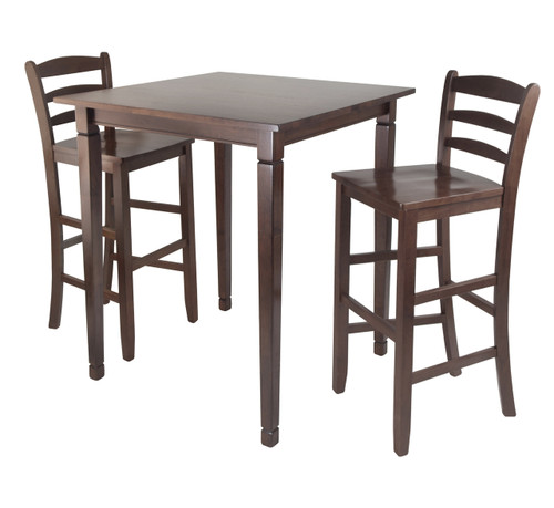 3-Pc Kingsgate High/Pub Dining Table with Ladder Back High Chair