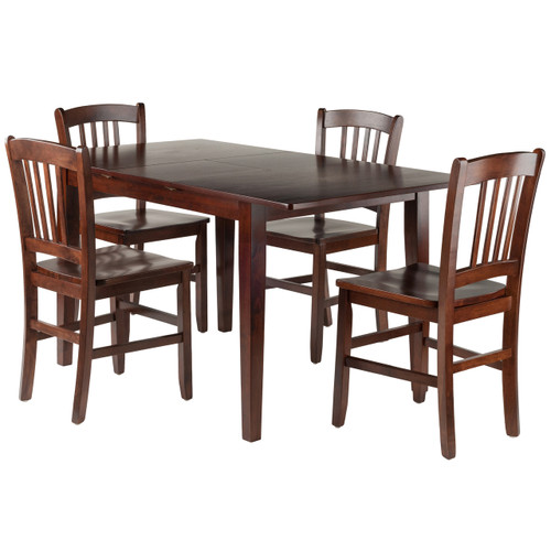 Anna 5-PC Dining Table Set w/ Slat Back Chairs