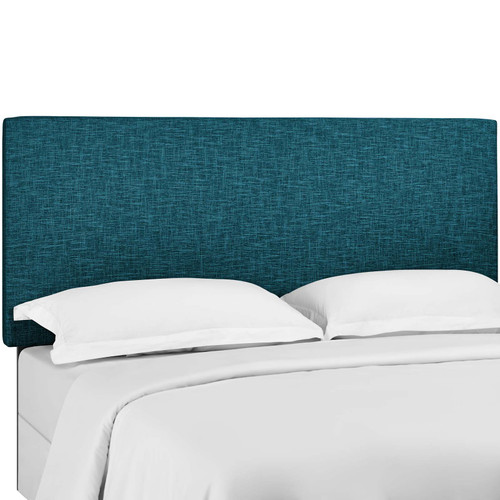 Taylor King and California King Upholstered Linen Fabric Headboard Teal MOD-5883-TEA