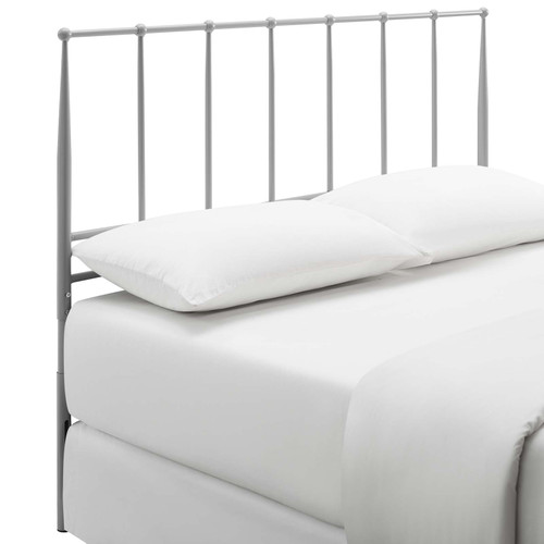 Kiana King Metal Stainless Steel Headboard Gray MOD-6106-GRY
