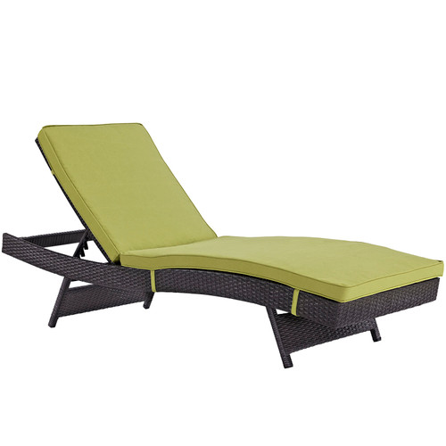 Convene Outdoor Patio Chaise Espresso Peridot EEI-2179-EXP-PER