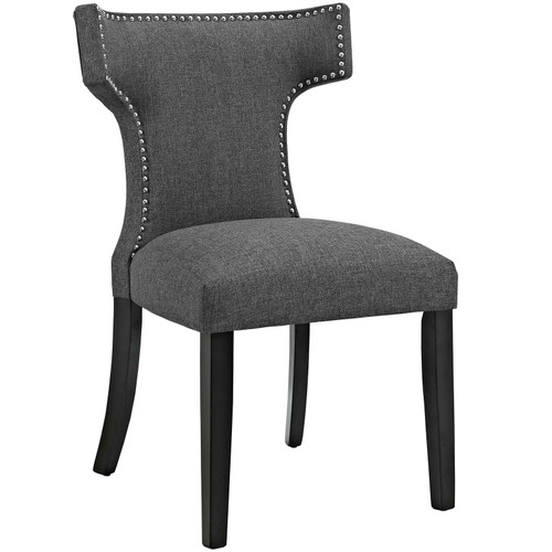 Curve Fabric Dining Chair Gray EEI-2221-GRY