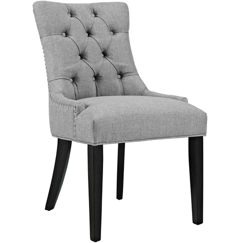 Regent Tufted Fabric Dining Side Chair Light Gray EEI-2223-LGR