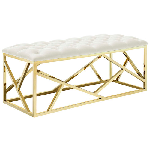Intersperse Bench Gold Ivory EEI-2847-GLD-IVO