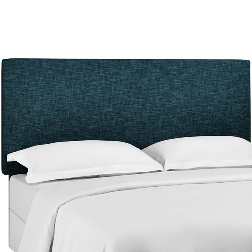 Taylor King and California King Upholstered Linen Fabric Headboard Azure MOD-5883-AZU
