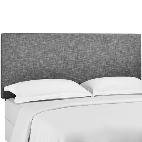 Taylor King and California King Upholstered Linen Fabric Headboard Light Gray MOD-5883-LGR