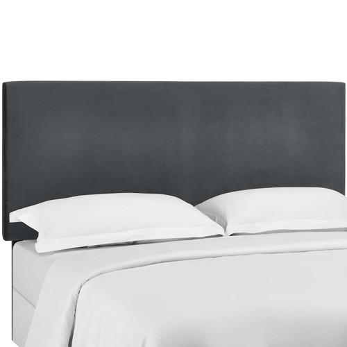 Taylor King and California King Upholstered Performance Velvet Headboard Gray MOD-5884-GRY